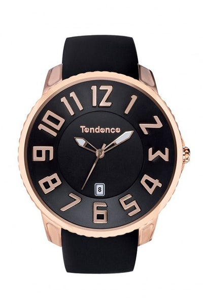 Tendence Slim Classic 3H Black/Rose Gold