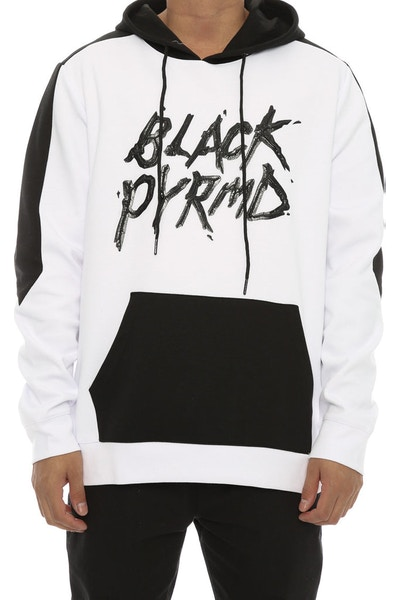 Black Pyramid BP Color Hoody White