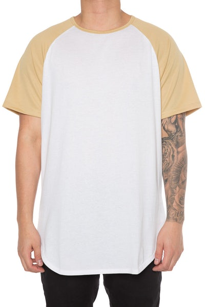 EPTM Raglan OG Long Tee Gold/White