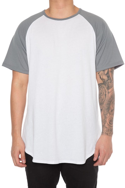 EPTM Raglan OG Long Tee Grey/White