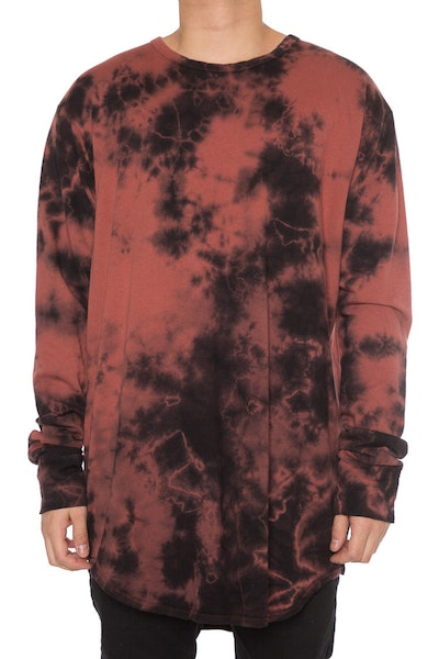 EPTM Crystal Dye OG Long L/S Burgundy/Black