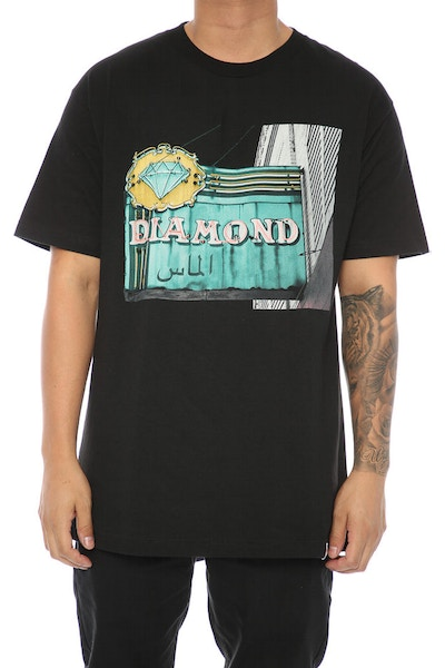 Diamond Supply Neon Tee Black
