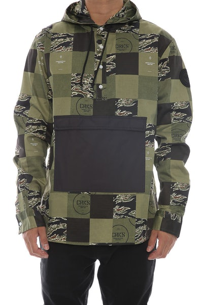 Crooks & Castles Trooper Hooded Pullover Camo/Green