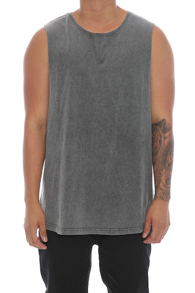 Silent Theory Muscle Acid Tail Tee Charcoal
