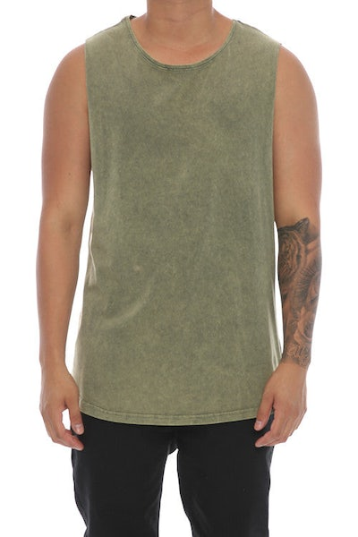 Silent Theory Muscle Acid Tail Tee Khaki