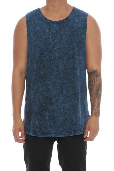 Silent Theory Muscle Acid Tail Tee Navy
