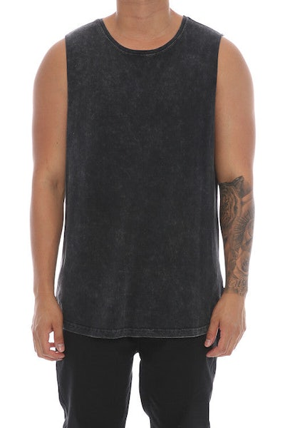 Silent Theory Muscle Acid Tail Tee Washed Black
