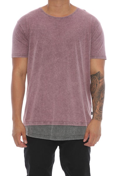 Silent Theory Layered Tee Burgundy