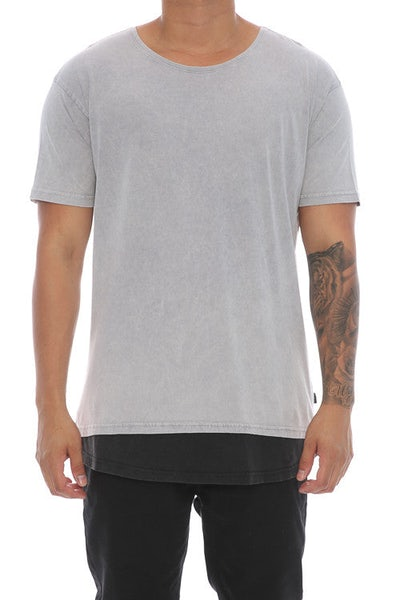 Silent Theory Layered Tee Grey