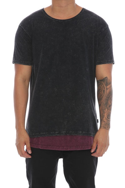 Silent Theory Layered Tee Washed Black