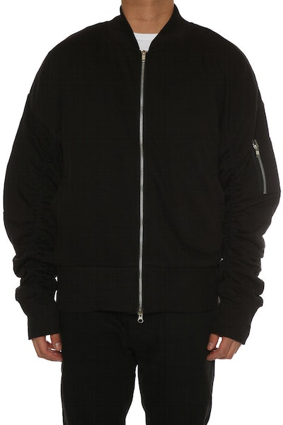 Other UK Clothing Limited Oversized Bomber Jacket Black