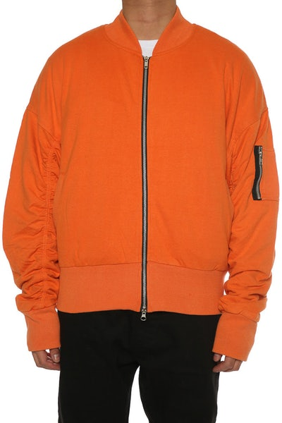 Other UK Clothing Limited Oversized Bomber Jacket Washed Orange