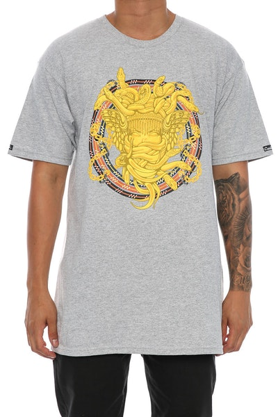 Crooks & Castles Mountaineer Medusa Tee Heather Grey