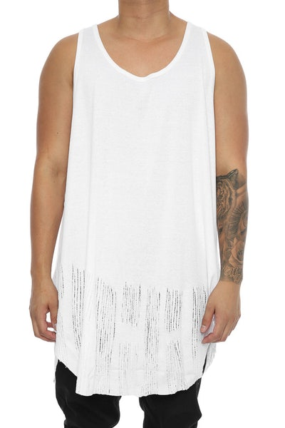 Other UK Clothing Limited Distressed Vest White