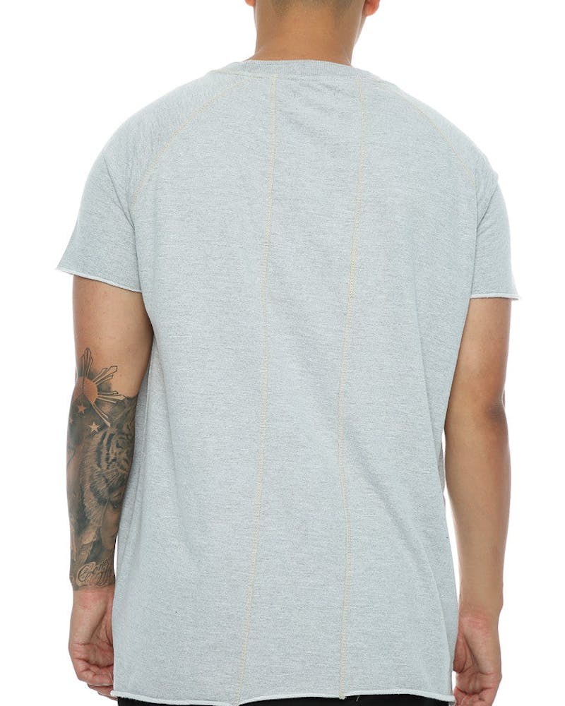 Other UK Clothing Limited Raw Edge Jersey Tee Heather Grey