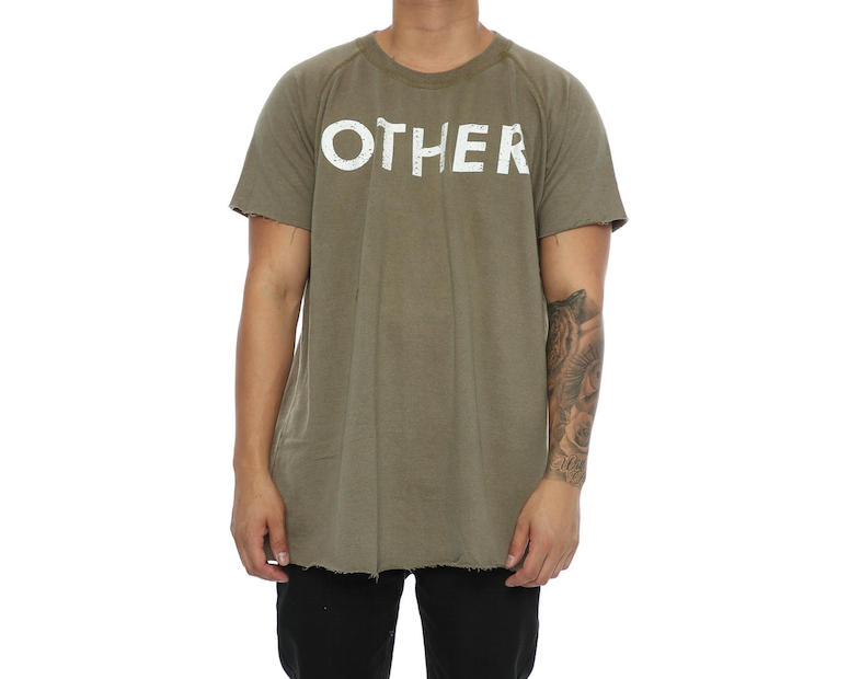 Other UK Clothing Limited Raw Edge Jersey Tee Khaki