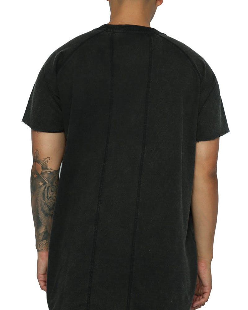 Other UK Clothing Limited Raw Edge Jersey Tee Washed Black