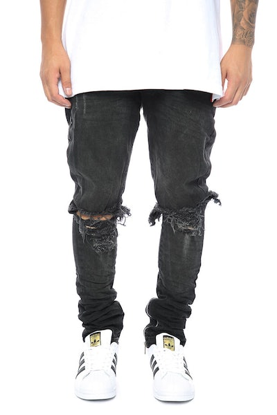 Other UK Clothing Limited Blownout Denim Black