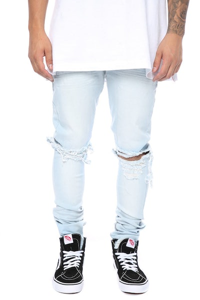 Other UK Clothing Limited Blownout Denim Ice Blue