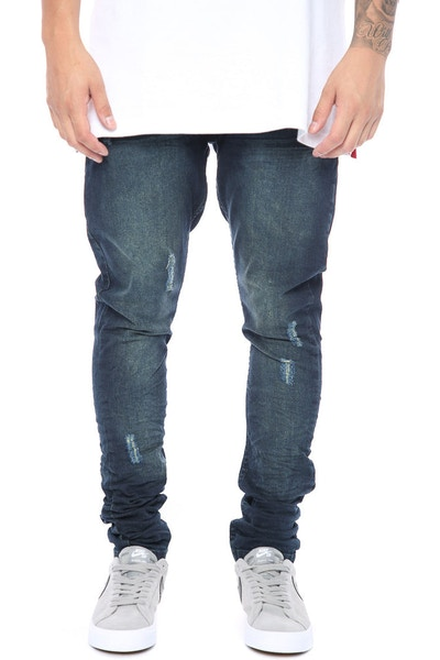 Other UK Clothing Limited Prem Essential Stacked Jeans Blue