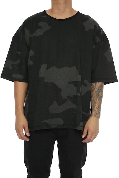 Other UK Clothing Limited Oversize Jersey Tee Black Camo