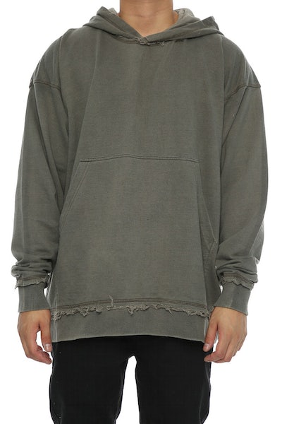 Other UK Clothing Limited Raw Hem Hoodie Clay