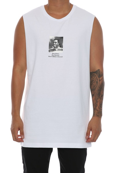 Goat Crew Graduation Muscle Tee White