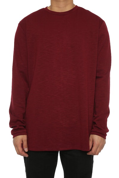 Lifted Anchors Sims Long Sleeve Tee Burgundy