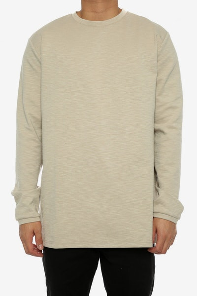 Lifted Anchors Sims Long Sleeve Tee Tan