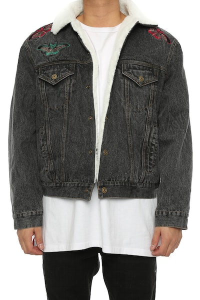 Lifted Anchors Kershaw Denim Jacket Dark Denim