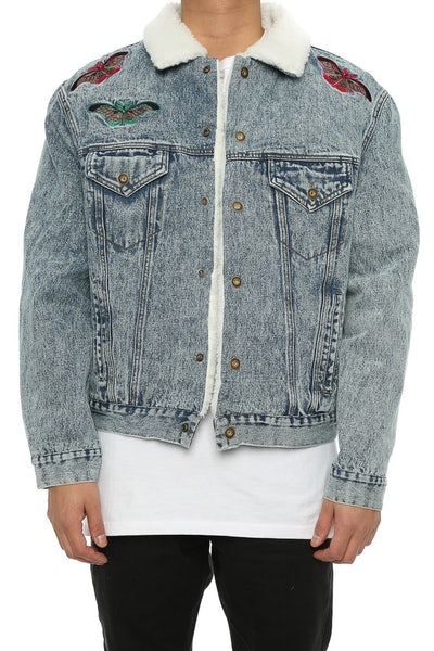 Lifted Anchors Kershaw Denim Jacket Light Denim