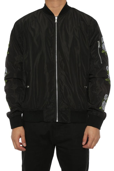 Lifted Anchors Rosa Bomber Jacket Black