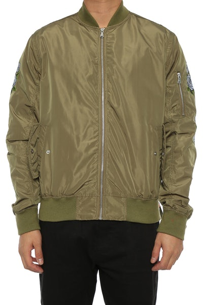 Lifted Anchors Rosa Bomber Jacket Khaki