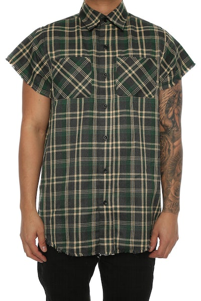 Lifted Anchors Billups Button Up Green
