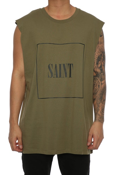 Saint Morta Cobain Oversized Muscle tee Pale Green