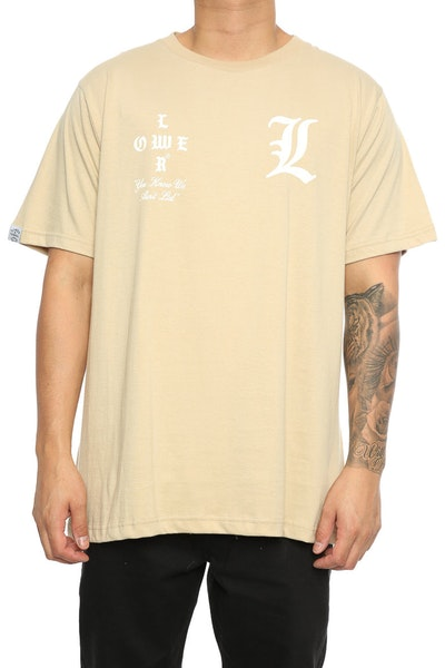 Lower Curve QRS Tee Tan