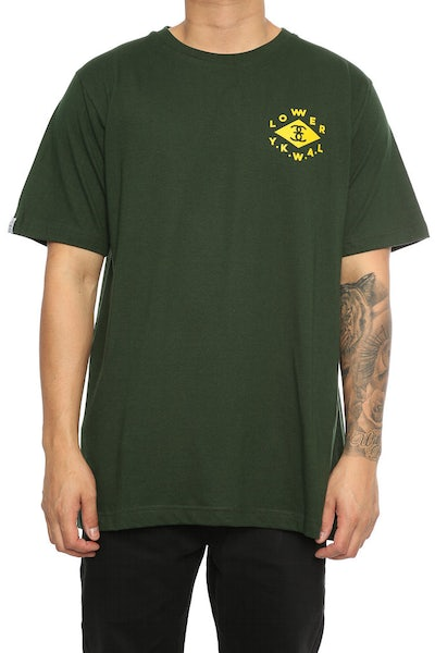 Lower Diamond QRS Tee Forest Green
