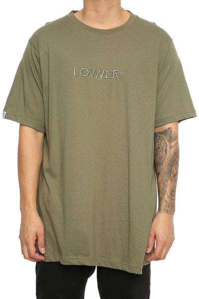 Lower Triple U Embroidery QRS TEE Olive