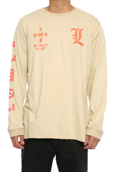Lower Curve QRS L/S Tee Tan