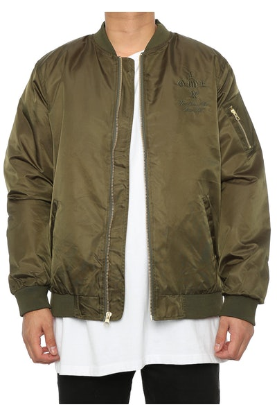 Lower Crossroads Emb Bomber Olive