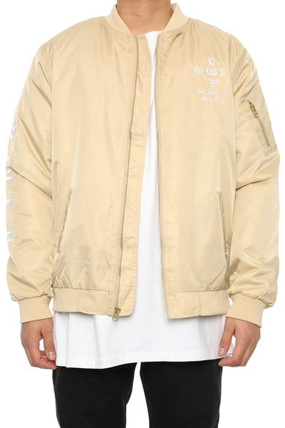 Lower Crossroads Embroidered Bomber Tan