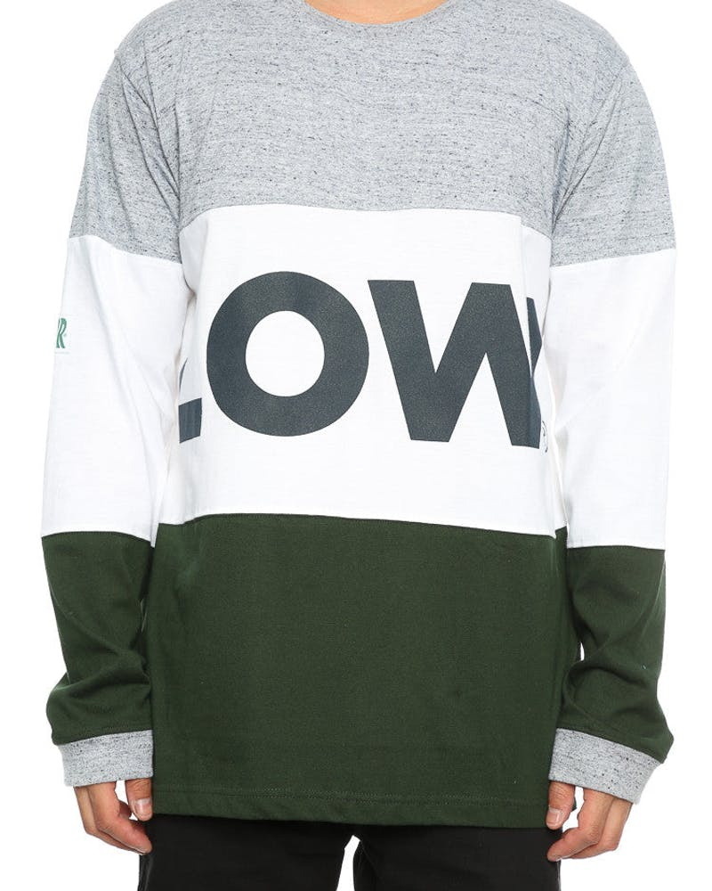 Lower Low L/S Tee Grey/White/Green