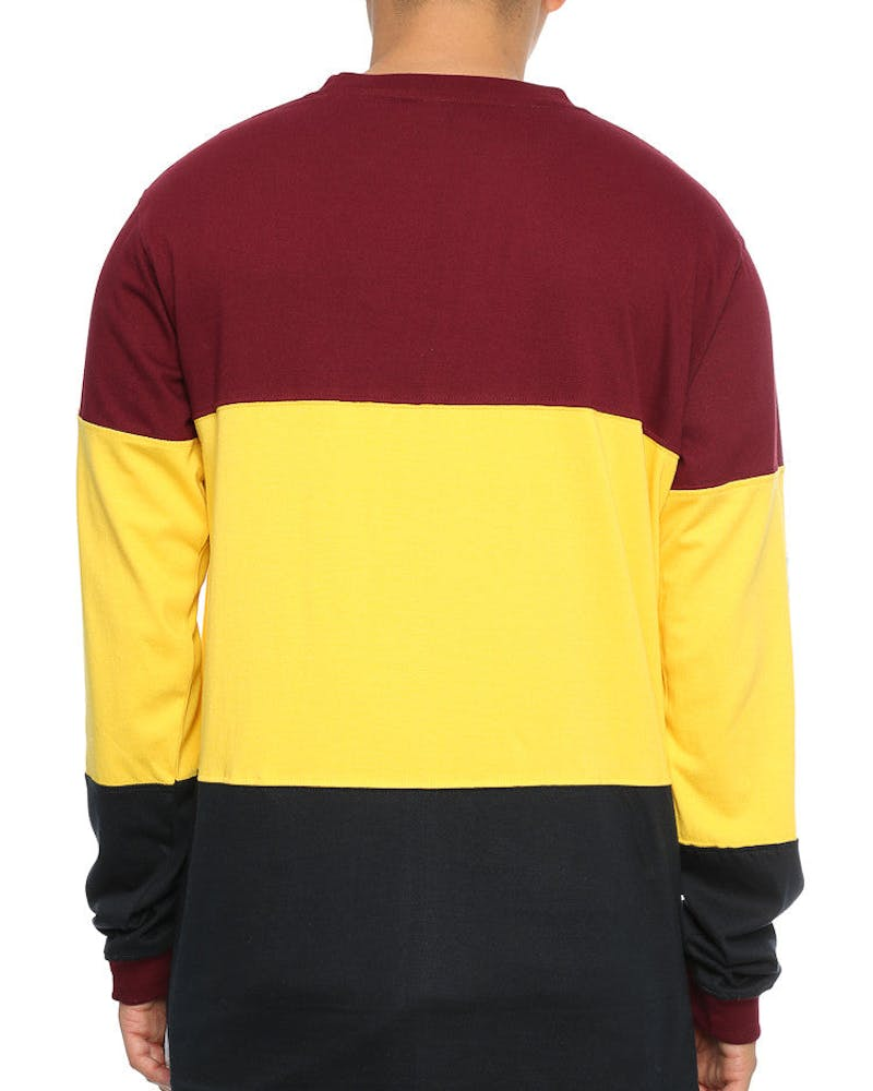 Lower Low L/S Tee Maroon/Yellow/Black