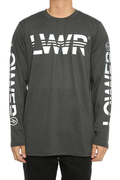 Lower Circuit Field Long Sleeve Tee Dark Marle