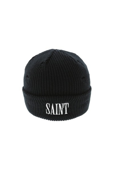 Saint Morta Cobain Distressed Beanie Black