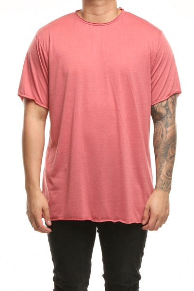 Detache Monitor Box Tee Ox Blood Red