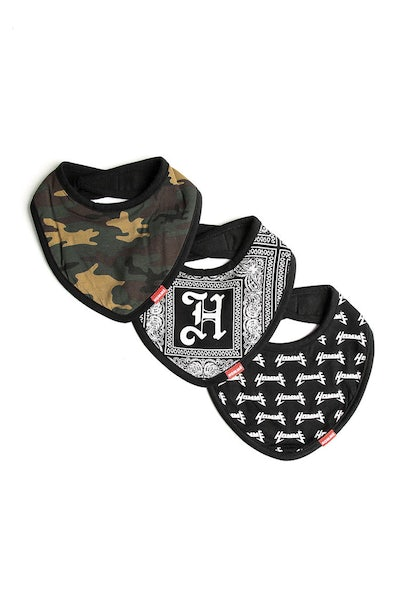 Lil Homme Bandana Bib 3 Pack Multi-Coloured