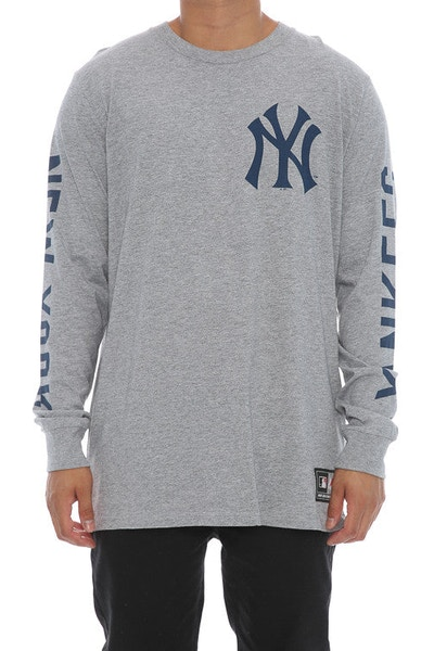 Majestic Athletic Mavern L/S Yankees Tee Grey
