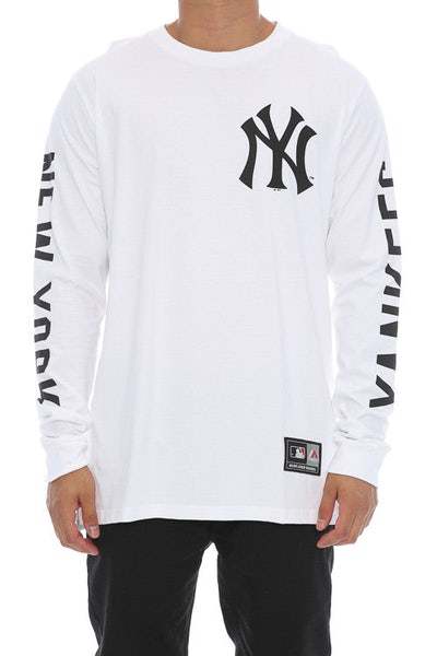 Majestic Athletic Mavern L/S Yankees Tee White