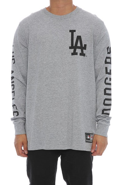 Majestic Athletic Mavern L/S Dodgers Tee Grey/Black